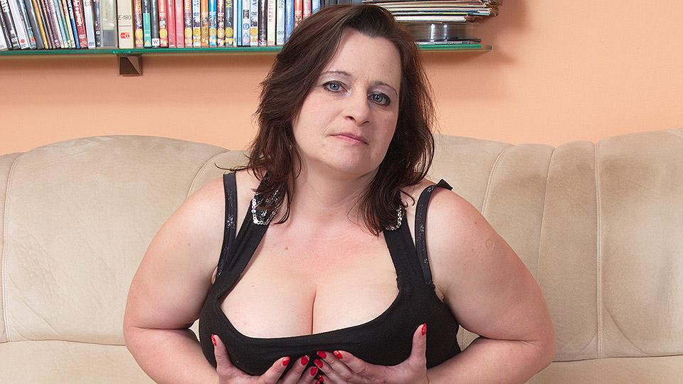 Big titted housewife enjoying a hard cock