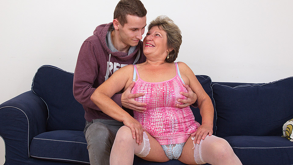 Naughty mama fucking and sucking her toy boy