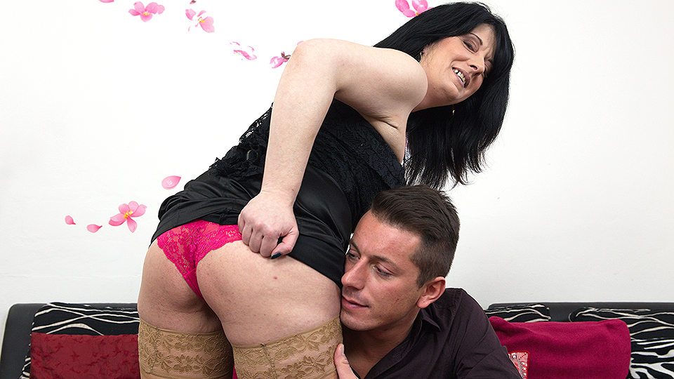 Horny housewife fucking and sucking her toyboy