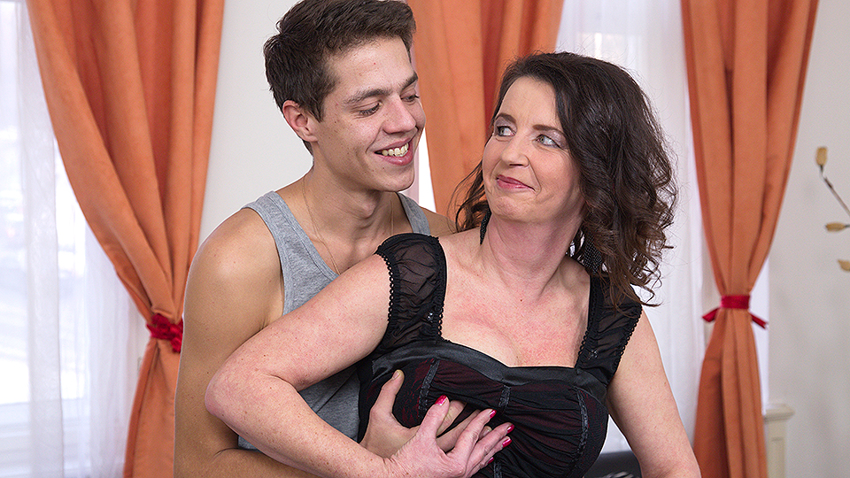 Mature lady and her toy boy prefer work