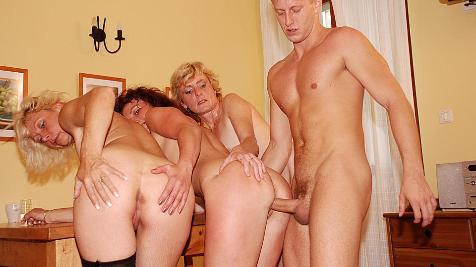 mature german creampie orgy